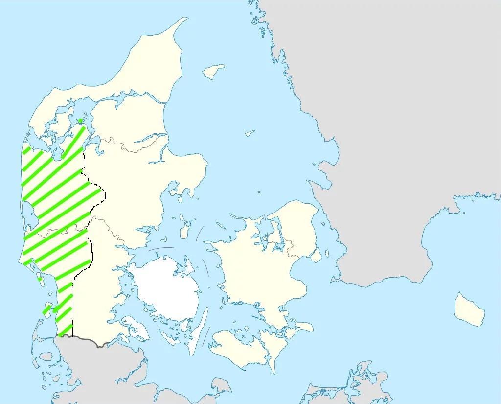 Urlaubsregion Westjütland Karte