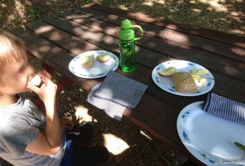 gedeckter Picknicktisch in Dänemark