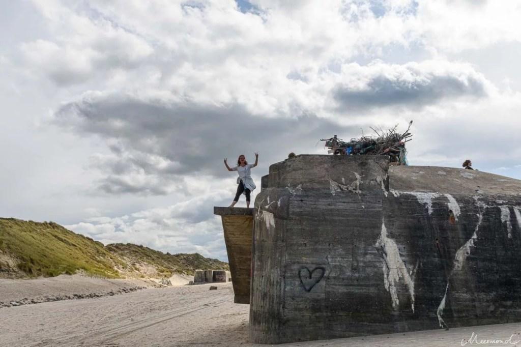 Løkken Beachbar auf einem Bunker