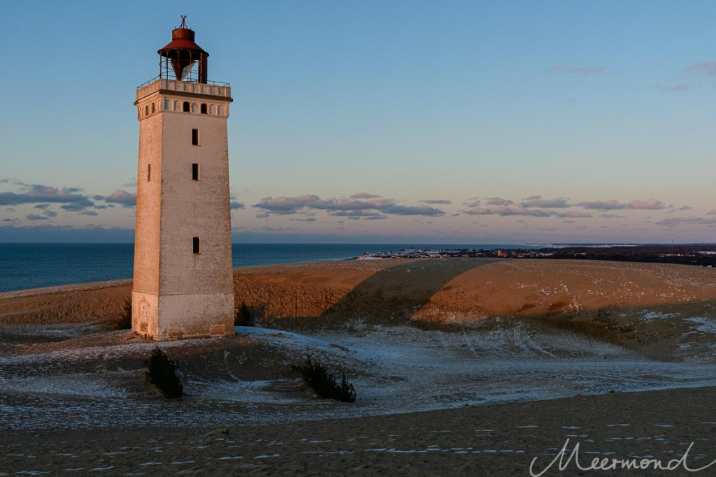 Sonnenuntergang am Leuchturm Rubjerg Knude Fyr