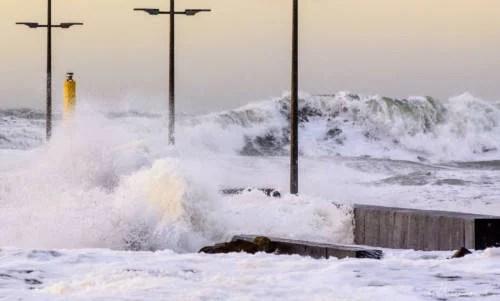 Løkken - Sturm im Januar