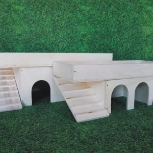 Häuser Terrassendach Holz natur