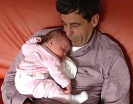 Mijn vader was bij de bevalling