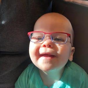 Met 11 maanden een bril