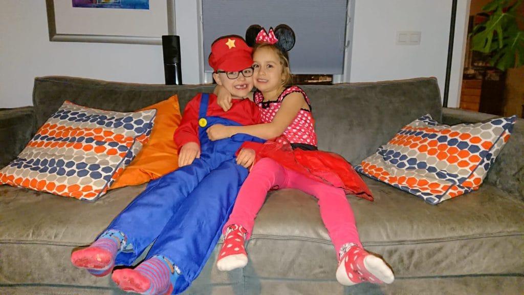 Mario en Minnie zijn klaar voor carnaval!