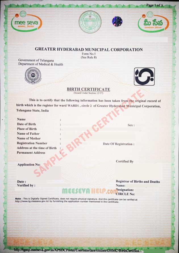 certificate birth hyderabad sa ghmc service services attestation provider