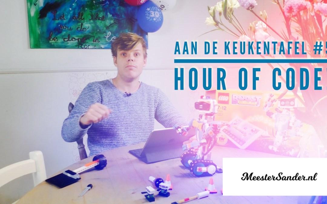 Aan de keukentafel #5  – Hour of code – Programmeren met de hele basisschool