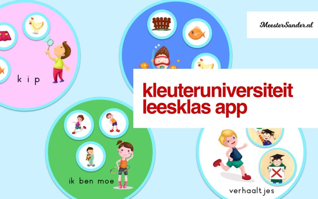 NIEUW: De kleuteruniversiteit app Leesklas