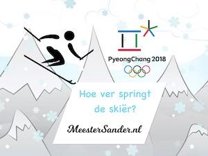 hoe ver springt de skier olympische spelen meester Sander tinytap