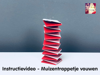 instructievideo Muizentrappetje vouwen