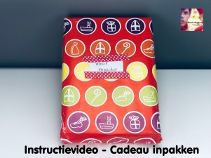 instructievideo cadeau inpakken