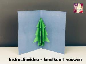 instructievideo kerstkaart vouwen