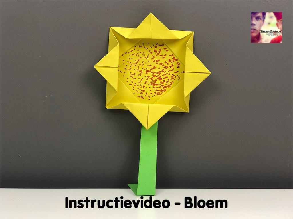 instructievideo bloem vouwen