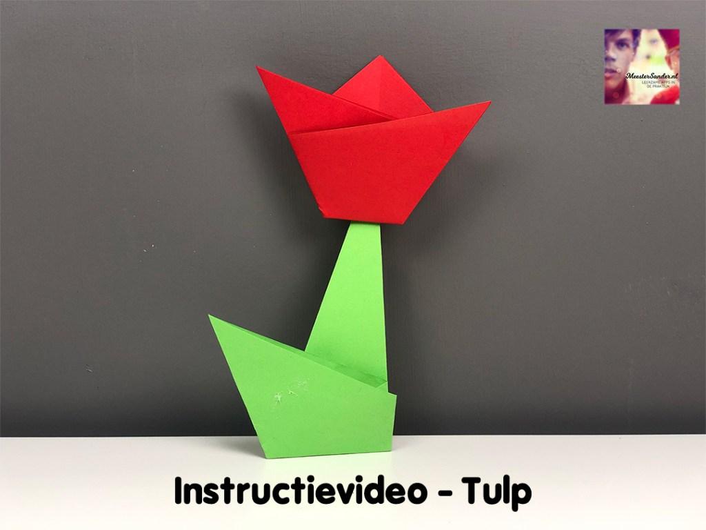 instructievideo tulp vouwen