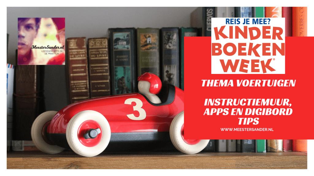 Kinderboekenweek 2019 tips kleuters apps Digibord instructiemuur