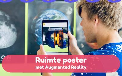 Ontdek de aarde, de maan en mars in AR – Augmented reality posters in het thema ruimte