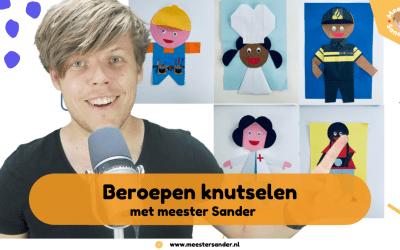 Beroepen knutselen met meester Sander voor de Kinderboekenweek 2021