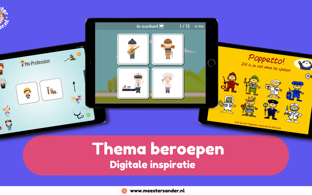 Digitale inspiratie voor het thema beroepen  #Kinderboekenweek