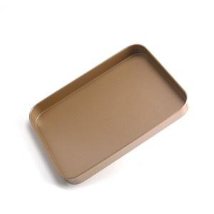長方形烘焙烤盤(金色)