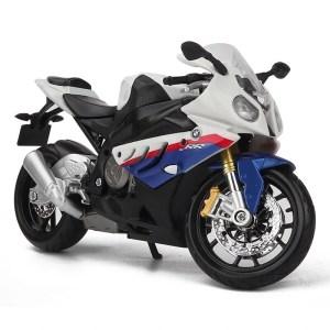 寶馬 S 1000 RR 白色電單車【 比例 1:12】