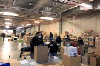 The CCIB, logistics center to distribute protective material to the nursing homes
