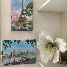 carousel and Eiffel tower - original oil painting