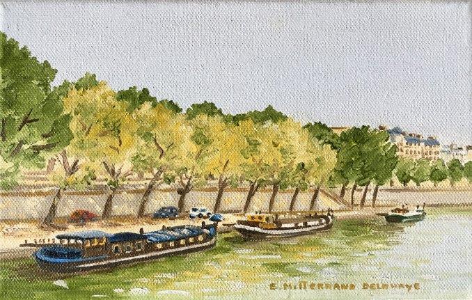 péniches à quai