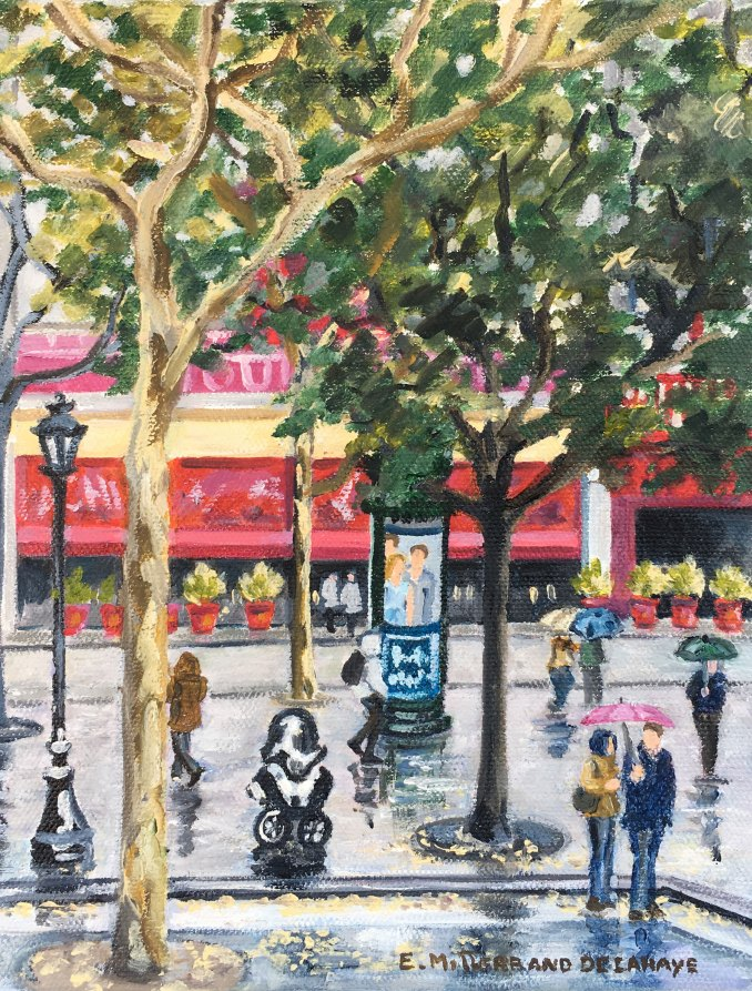 Oil-painting-of-Pigalle-in-Paris-by-Edwige-Mitterrand-Delahaye