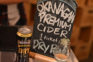 "Low carbonation and sweetness, what I want in a cider - Okanagan Premium Cider in ""Dry Pear"""