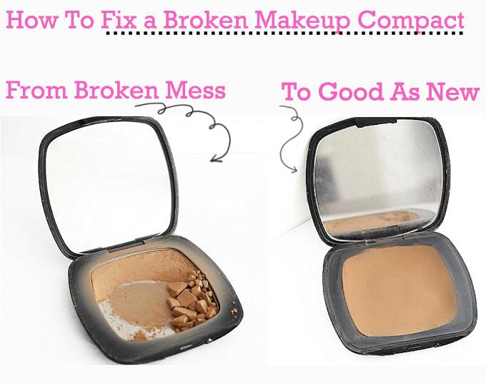 How To Fix Broken Makeup Powder Compact
