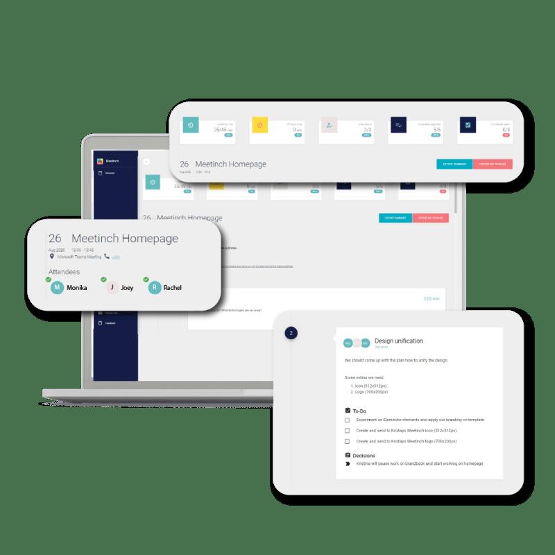 meetinch app interface