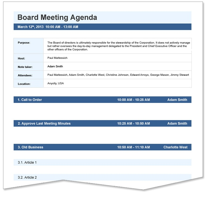 Creating An Agenda Template How To Create Agenda Template Sales