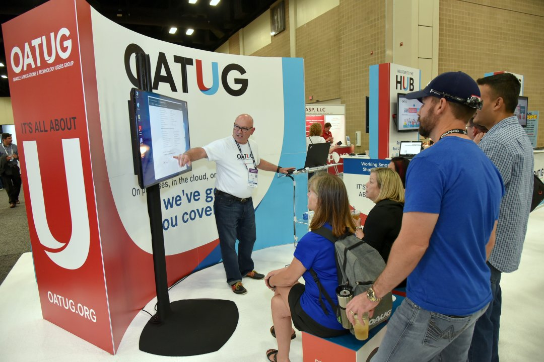 Demonstration given within the OATUG booth to attendees.