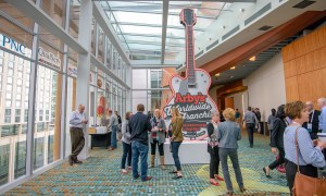 arby's attendees congregate outside of general session room