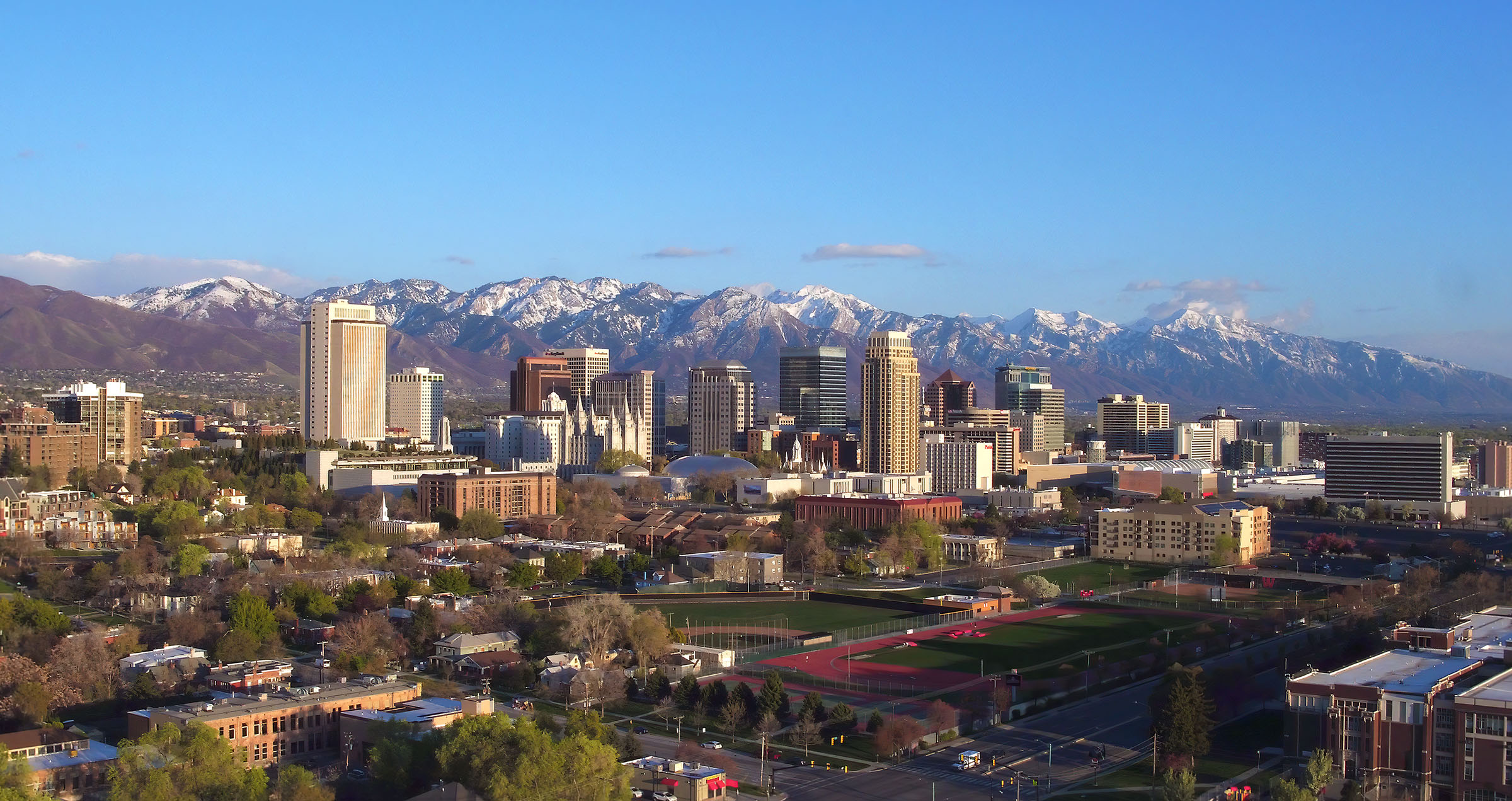 Skyline of Salt Lake City