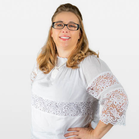 Head shot of Betsey Blimline on white background