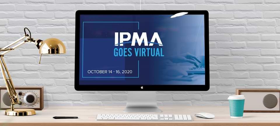 IPMA Goes Virtual logo on a monitor
