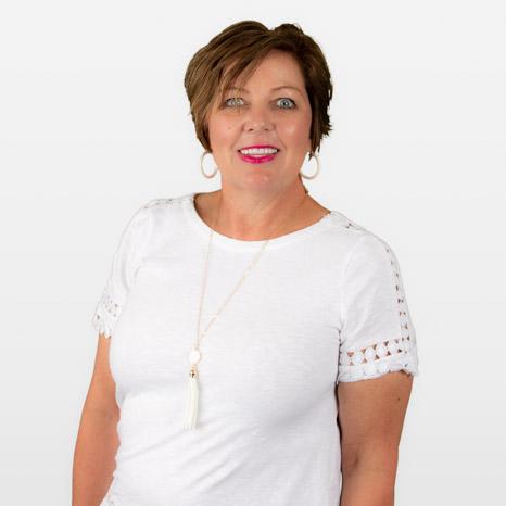 Head shot of Lisa Neylon on white background