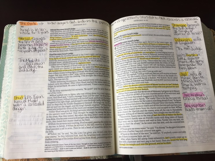 Double margin page, typical of the Inspire BIble
