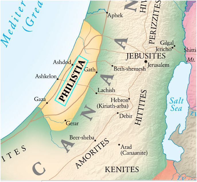 Philistia Map