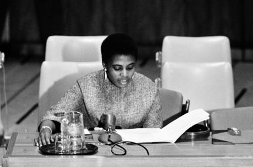 Miriam Makeba at UN March 1964