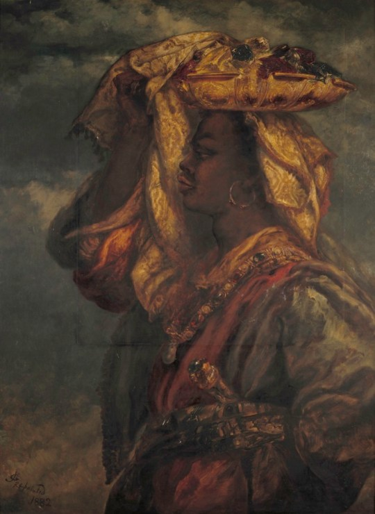 Black Girl with Fruit by Sir John Gilbert (Guildhall Art Gallery)