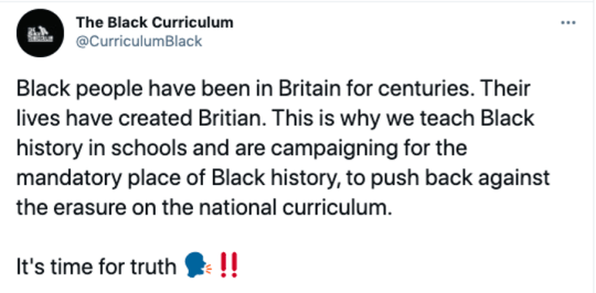 Source: The Black Curriculum