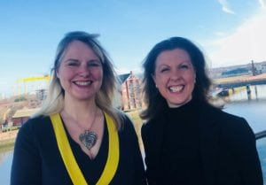 In charge of  ICCA UK & Ireland Chapter: Diane Waldron and Aileen Crawford