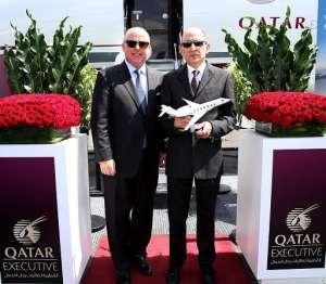 Qatar Executive unveils its new jet at Farnborough International Airshow