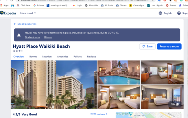 Why not trust Hyatt, Marriott, Bookings when booking your Hawaii Vacation