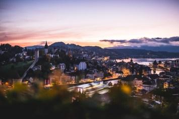 Sunrise in Lucerne