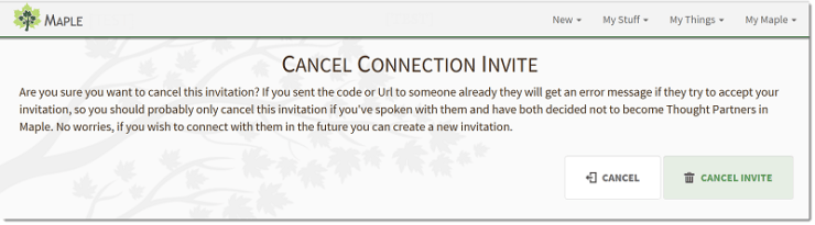 Cancel an Invite