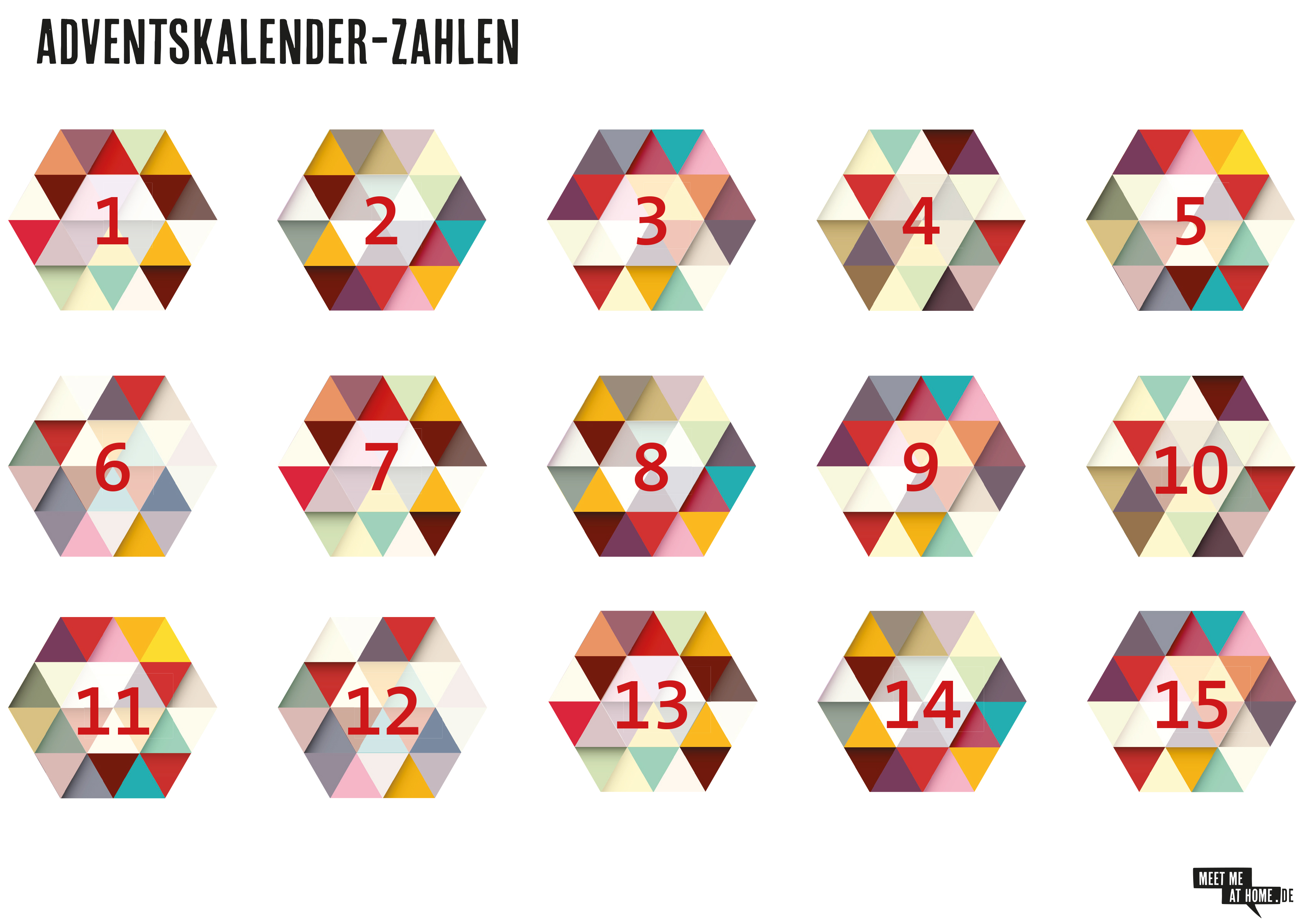 Freebie Adventskalender Zahlen Meet Me At Home