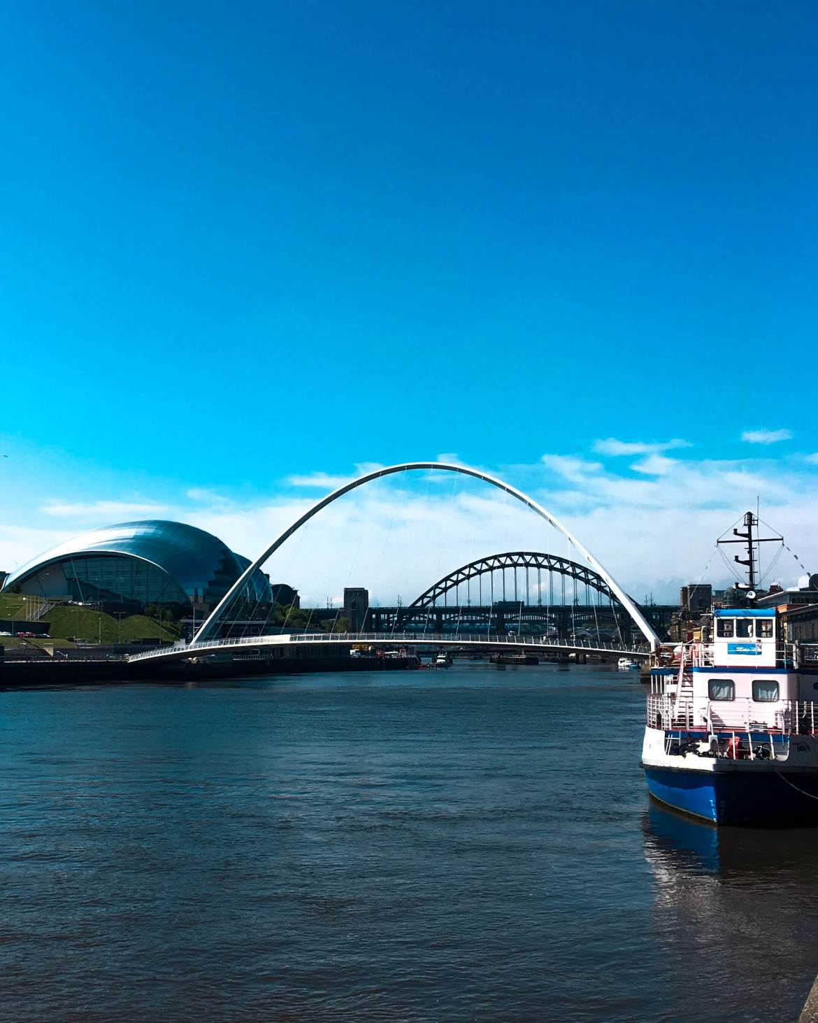 Hadrian's Wall Path runs through Newcastle Upon Tyne, United Kingdom